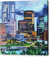 Calgary Downtown Evening Acrylic Print