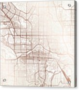 Calgary Street Map Colorful Copper Modern Minimalist Acrylic Print