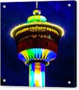 Calgary Tower At Night Acrylic Print