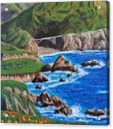 California Coastline Acrylic Print