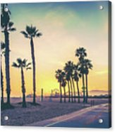 Cali Sunset Acrylic Print