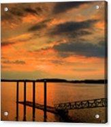 Calibogue Dock Acrylic Print