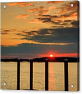 Calibogue Sound Sunset Acrylic Print