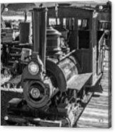 Calico Odessa Train In Black And White Acrylic Print