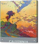 California - America's Vacation Land And New York Central Lines - Retro Travel Poster - Vintage Acrylic Print