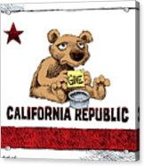 California Budget Begging Acrylic Print