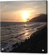 California Coast Sunset At Dunes Acrylic Print