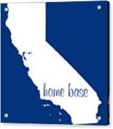 California Is Home Base White Acrylic Print