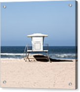 California Lifeguard Tower Photo Acrylic Print by Paul Velgos