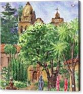 California Mission Carmel Basilica Acrylic Print