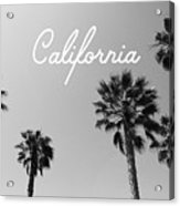 California Palm Trees By Linda Woods Acrylic Print