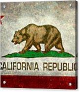 California Republic State Flag Retro Style Acrylic Print