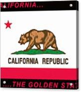 California State Flag Acrylic Print