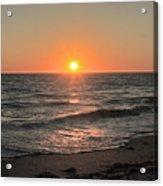 California Sunset Pacific Ocean Davenport  Acrylic Print
