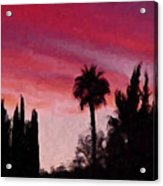 California Sunset Painting 1 Acrylic Print