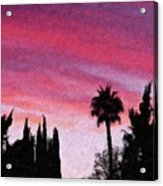 California Sunset Painting 2 Acrylic Print