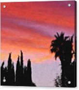 California Sunset Painting 3 Acrylic Print