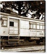 California Western  M 100 Gas Railcar  Skunk Train  Circa 1930 Acrylic Print