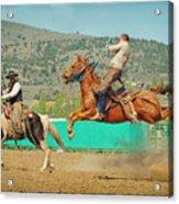 Californios Burns Ranch Bronc 2012 Acrylic Print