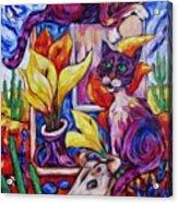 Calla Cacti Cat Izona Acrylic Print
