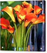 Calla Lilies Bouquet Acrylic Print
