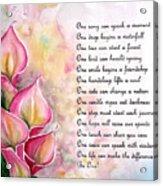 Callas   Poem Acrylic Print