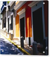 Calle Del Sol Old San Juan Puerto Rico Acrylic Print by George Oze