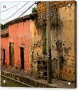 Calle En Suchitoto Acrylic Print