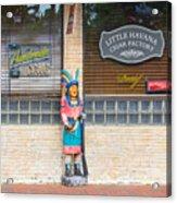 Calle Ocho Cigar Indian Acrylic Print