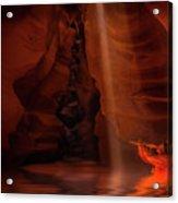 Calling The Light Beam- Upper Antelope Canyon Acrylic Print