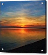 Calm After The Sun Goes Down Acrylic Print