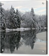 Calm And Frosty Acrylic Print