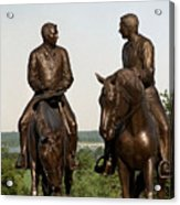 Calm As A Summers Morning Hyrum And Joseph Smith Bronze Sculpture Acrylic Print