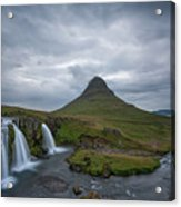 Calm Before The Storm At Kirkjufell Acrylic Print