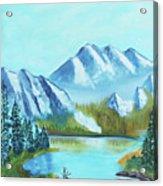 Calm Mountain Stream Acrylic Print