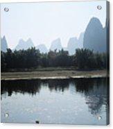 Calm On The Li River Acrylic Print by Gloria & Richard Maschmeyer - Printscapes