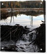 Calm Photo Of Water Flowing Acrylic Print