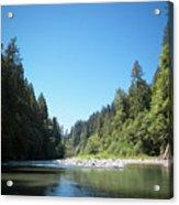 Calm Sandy River In Sandy, Oregon Acrylic Print