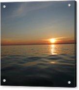 Calm Water Sunset Acrylic Print