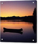 Calming Canoe Acrylic Print