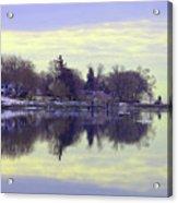 Calming Lavendar Scene Acrylic Print