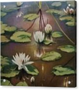 Calming Pond Acrylic Print