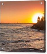 Caloundra Beach Sunset Acrylic Print