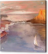 Calpe At Sunset Acrylic Print by Miki De Goodaboom