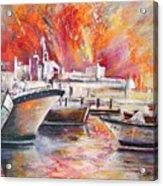 Calpe Harbour Spain Acrylic Print