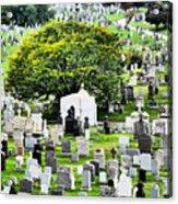 Calvary Cemetery From Above Acrylic Print
