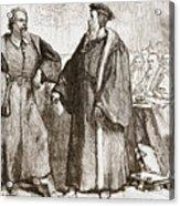 Calvin And Servetus Before The Council Of Geneva Acrylic Print