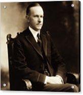 Calvin Coolidge Portrait Acrylic Print
