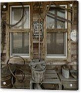 Calvins Garage In Deshler Nebraska Acrylic Print