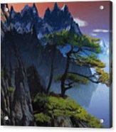 Calypso Mountains Oil On Canvas Acrylic Print